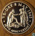 "Turks and Caicos 20 Crowns 1995 ""VE-DAY 50 Year Anniversary"""