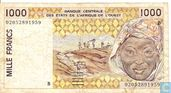 West Afr. Stat. 1000 Francs B