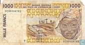 West Afr. Stat. 1000 Francs T
