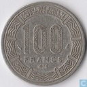 Central African Republic 100 francs 1976