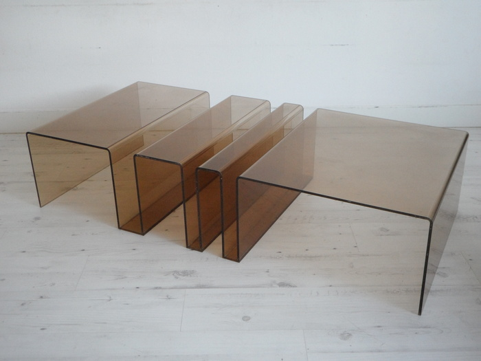 table de salon en plexiglas design catawiki. Black Bedroom Furniture Sets. Home Design Ideas