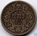 British India ¼ rupee 1914 (Bombay)