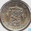 Netherlands 1 gulden 1944 (P near EN)