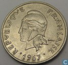 New Caledonia 20 francs 1967