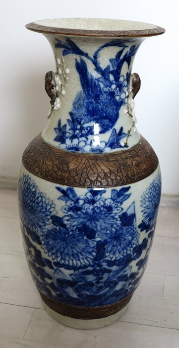 Crackleware vase-China-at the end of the 19th century