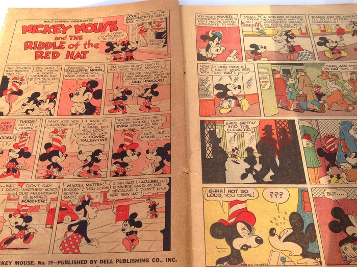 Four Color Comics  79 - Mickey Mouse in The Riddle of the Red Hat - sc -1st  edition - (1945) bd0c686d85f3d
