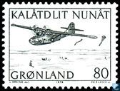 Briefmarken - Grönland - Post-Transportflugzeug