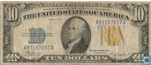 United States $ 10 1934 (Silver certificate, yellow seal)