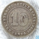 Straits Settlements 10 Cent 1895