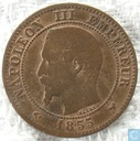 Frankreich 2 Centime 1855 (W Anker)