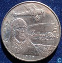 "Samoa 1 tala 1977 (Copper-nickel) ""50th Anniversary of Charles Lindbergh's Transatlantic flight"""
