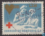 Red Cross with imprint