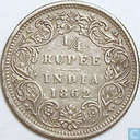 British India ¼ rupee 1862 (Calcutta)