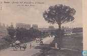 Italia Roma Acquedotto di Claudio around 1900 - Streetview many horse cars