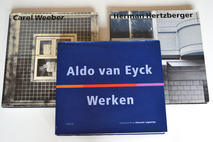Architectuur; Lot met 3 werken over Aldo van Eyck, Carel Weeber en Herman Hertzberger - 1989/1999