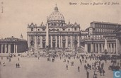 Italia Roma Piazza Basilica St Piedro around 1900 - Streetview horse car