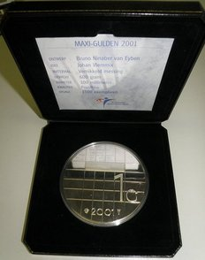The Netherlands – Maxi guilder 2001 of 600 grams.
