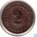German Empire 2 pfennig 1874 (F)