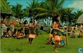 G.285 USA Florida Vailoatai village pago pago dance in authentical Hawai clothes