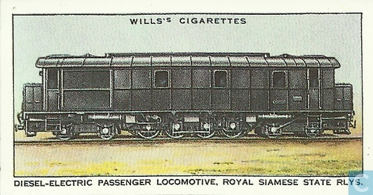 Diesel electric passenger locomotive royal siamese state for Siamese 9 electric motor