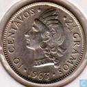 "Dominikanische Republik 10 Centavo 1963 ""100th Anniversary - Restoration of the Republic"""