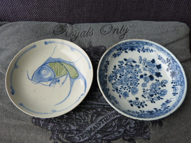 Two antique plates -China-18th century and 19th century