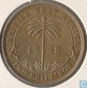 British West Africa 2 shillings 1938 (KN)