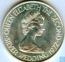 "Jersey 1 pound 1972 ""25th Anniversary of the Wedding of Elizabeth II"""