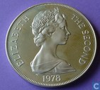 "Tristan da Cunha 1 crown 1978 (PROOF)""Coronation Jubilee"""