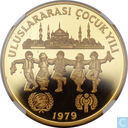 "Turkey 500 lira 1979 (PROOF - Valcambi Mint) ""UNICEF and I.Y.C."""