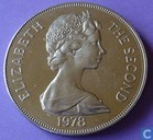 "Saint Helena 1 crown 1978 (silver) ""25th anniversary of coronation"""