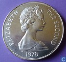 "Saint Helena 1 crown 1978 (copper-nickel) ""25th anniversary of coronation"""