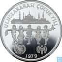 "Turkije 500 lira 1979 (PROOF - Valcambi Mint) ""UNICEF and I.Y.C."""
