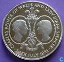 "Tristan da Cunha 25 Pence 1981 (PROOF) ""Royal wedding"""