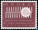Postage Stamps - Norway - 100 years of ITU
