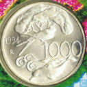 "Italië 1000 lire 1994 ""Flora and Fauna Protection"""