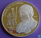"Congo-Brazzaville 1000 francs 1999 (PROOF) ""Charles Darwin"""