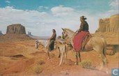 147 - Indian Riders in Monument Valley