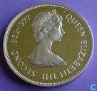 "Guernsey 25 pence 1977 (PROOF) ""25th Anniversary of the Enthronement of Elizabeth II"""