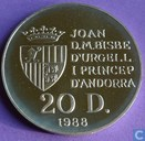 "Andorra 20 diners 1988 (PROOF) ""Olympic Games 1992"""