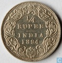 British India ¼ rupee 1894 (Bombay/Mumbai)