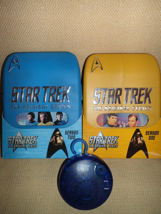 Lot 3 x star trek items deluxe dvd sets bathroom radio for Bathroom traduction