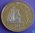 "Oost-Caribische Staten 10 dollars 1981 (PROOF) ""Royal Wedding of Prince Charles with Diana Spencer"""