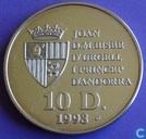 "Andorra 10 diners 1993 (PROOF) ""1994 FIFA World Cup"""