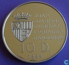 "Andorra 10 diners 1994 (PROOF) ""Olympic Games 1996"""