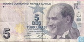 Turkey 5 Lira ND (2013/L1970)