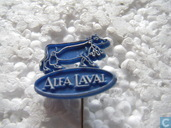 Alfa-Laval (cow) [white on blue]