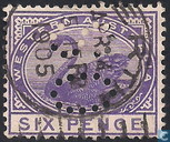 Official service stamp, perforated OS