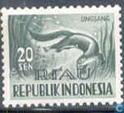 Stamps of Indonesia with imprint