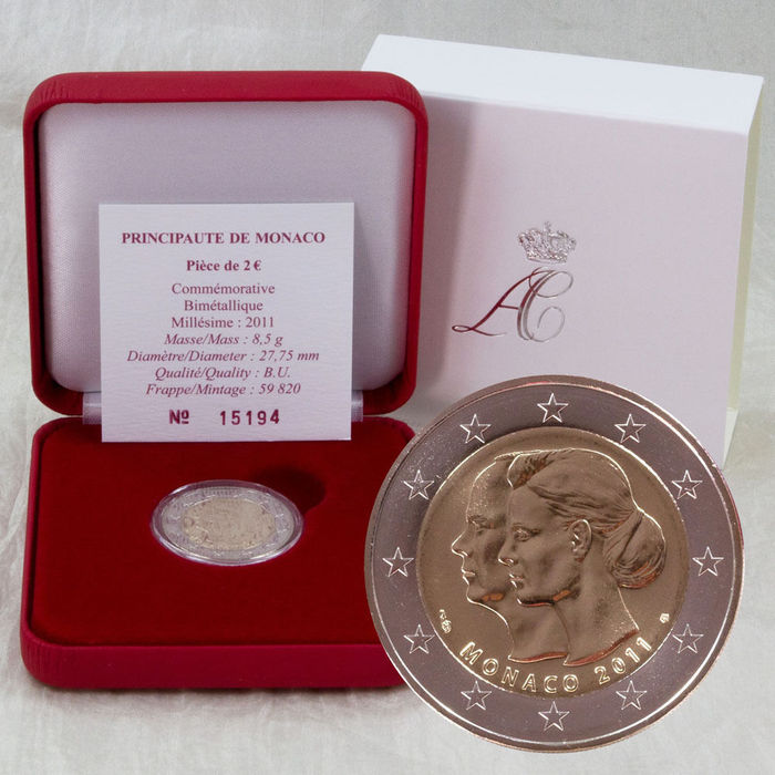 Monaco 2 Euro 2011 Royal Wedding Of Prince Albert Ii And Princess